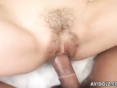 Impressive Japanese hooker fucked in her trimmed pussy