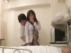 Dirty doctor fucks with a cock-addicted Asian beauty