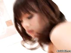 Asian girl enjoys anal fuck after deep oral job