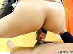 POV movie of college uniform girl suck and fuck
