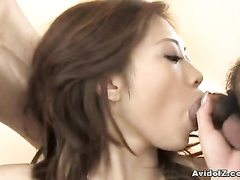 Two hard cocks makes the girl lose any shame