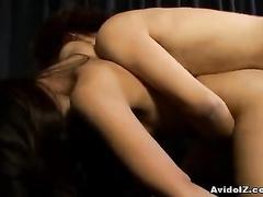 See the Asian ass close ups while hard fucking