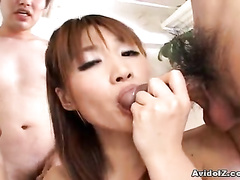 Beautiful babe gives hot head fuck to hard dicks