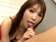 Babe doll sucks and wildly fucks the new bf
