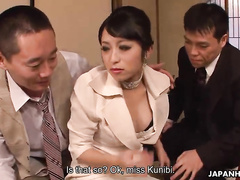 Submissive Japanese milf is trying to please her boss