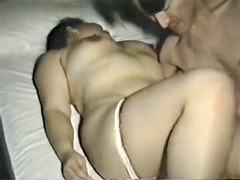 Passionate oral action with an all-natural Asian milf