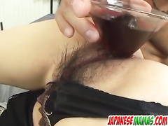 Sexy Asian has her gaping holes stretched and stuffed