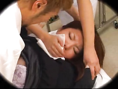 Astonishing Japanese beauty pounded by a gynecologist