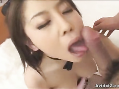 Tight hairy muff of a Japanese is getting impaled
