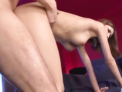Teenage cunt and ass with finger and cock inside