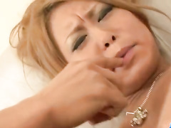 Asian milf takes shower and gets masturbated