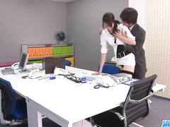 Stockings girl stripped and pounded in the office