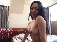 Man excites Asian pussy and fucks it heavily