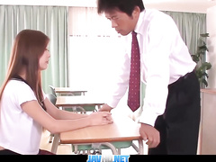 Kinky schoolgirl seduces her teacher for fuck