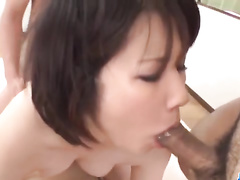 Asian girls enjoy the wildest gangbang fuck