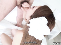 Astonishing Asian girl is being screwed on the bed