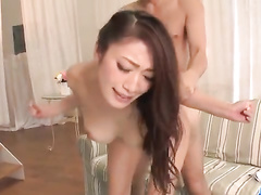 Busty Asian got her pussy filled with the cum