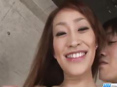 Slim Asian babe got steaming hot lingerie under kimono