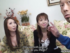 Two awesome Japanese cuties are having a sweet threesome