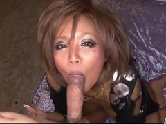 Impressive sexy young Japanese chick is enjoys sucking dick and fucks hard