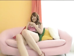 Awesome young Japanese chick with tender smooth skinned body sucks big black dick