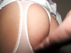 Young Asian nurse hotly poses in sexy uniform