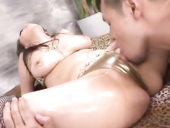 Exciting sexy Japanese chick gets drilled with sex toys