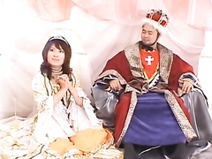 Naughty Asians are playing role game and fucking hard their queen