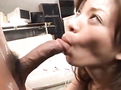 Japanese couple is pleasuring French kiss before fucking hard
