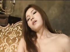 Amazingly sexy shaped Japanese girl is hotly masturbating