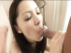 Amazing Asian cutie enjoys cunnilingus and sucks big dick