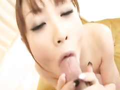 Japanese chick with young tight body gets fondled and hotly fucked