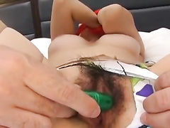 Japanese beauty gets undressed with tied hands by fucker guys