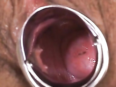 Sexy cute nurse is getting her pussy drilled with sex toys