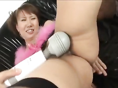 Japanese girlfriends with sexy pussy haircuts playing with sex toy