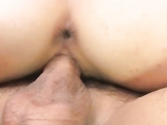 Redhead Asian cutie is wide spreading legs to get masturbated