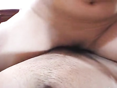 Exciting hot Asian brunette babe enjoys sucking dick and rides it