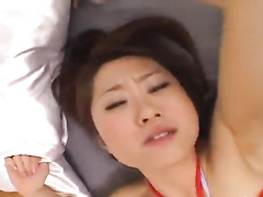 Hungry Asian fucker excitingly fondles and fucks hot brunette