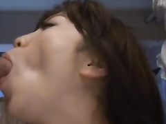 Young Japanese babe Enjoys painful double penetration