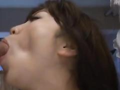 Young Japanese babe Enjoys painful double penetration