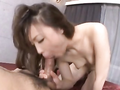 Asian beauty tastily sucks big dick and licks asshole