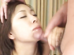 Beautiful Japanese girl pleasures hardcore mmf threesome fuck
