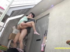 Sexy hot assed Asian chick Inamura enjoys being turned in various poses and fucked hard